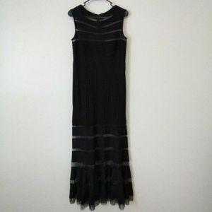 Tadashi Shoji Black Illusion Mesh Dress NWOT Small